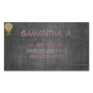 Support Contact Me Anytime Magnetic Business Cards