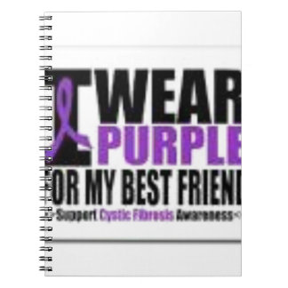 Support cystic fibrosis research spiral notebook