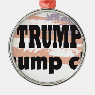 Support Donald Trump With This Great Product Silver-Colored Round Decoration