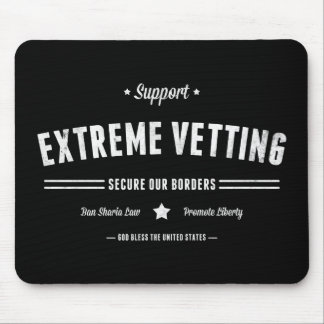 Support Extreme Vetting Mouse Pad