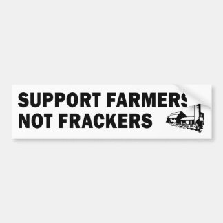 Support Farmers, Not Frackers (white) Bumper Sticker