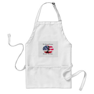 Support for our veterans shirts,and other designs standard apron