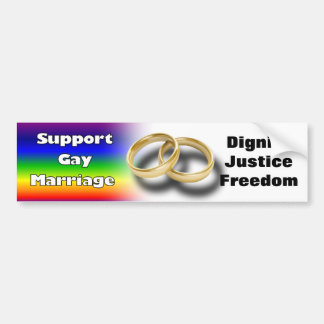Support Gay Marriage Car Bumper Sticker