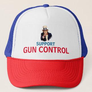 SUPPORT GUN CONTROL TRUCKER HAT
