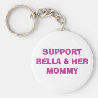 SUPPORT  & HER MOMMY BASIC ROUND BUTTON KEY RING