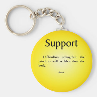 Support in Difficult Times Basic Round Button Key Ring
