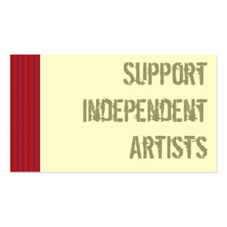 Support Independent Artists Business Cards