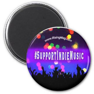 Support Indie Music 6 Cm Round Magnet