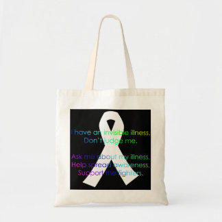 Support Invisible Illness Awareness - totes Budget Tote Bag