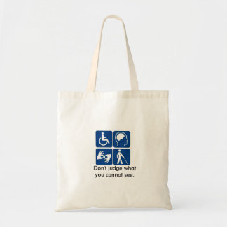 Support Invisible Illnesses Tote Budget Tote Bag