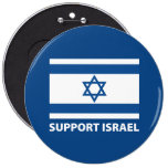 Support Israel 6 Cm Round Badge