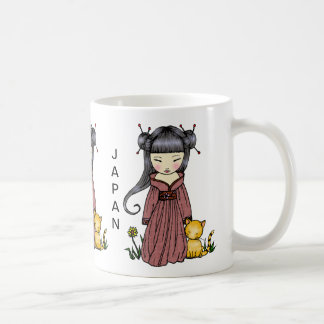 Support Japan Mug Kimono Girl