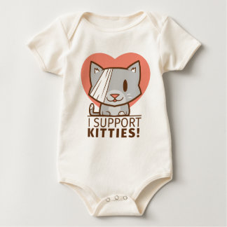 Support Kitty Baby Bodysuit