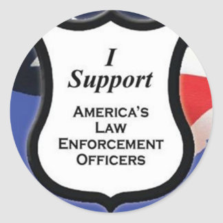 Support Law Enforcement Classic Round Sticker
