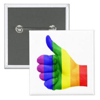 Support LGBT Gay Lesbian Pride Rainbow Button