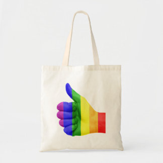 Support LGBT Gay Lesbian Pride Rainbow Tote Bag