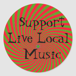 Support Live Local Music Sticker