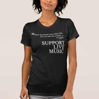 SUPPORT LIVE MUSIC - Women's Fitted T-Shirt