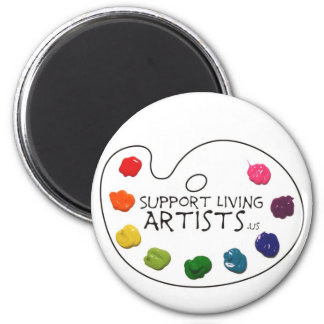 Support Living Artists Magnet