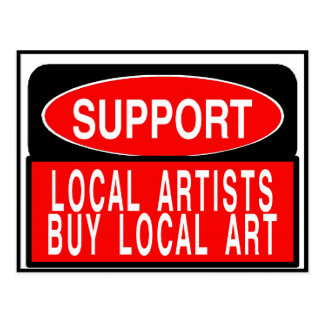 Support Local Artists, buy local art Fig Street Postcard