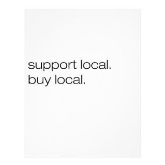 Support Local Buy Local 21.5 Cm X 28 Cm Flyer