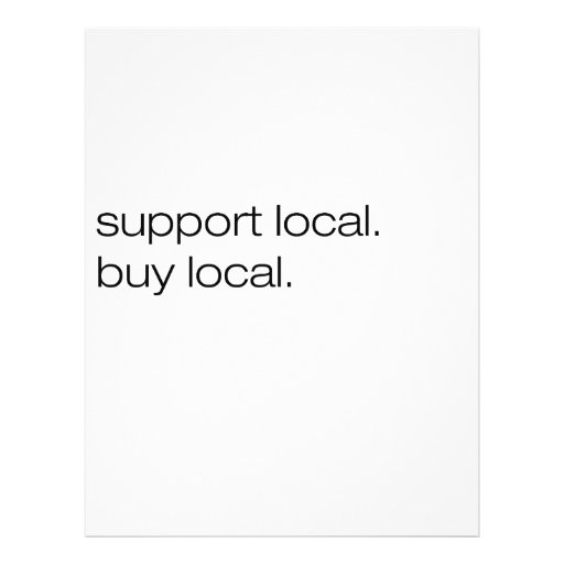Support Local Buy Local Flyer Design
