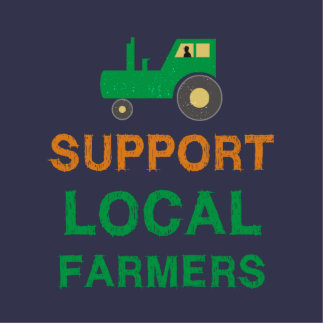Support Local Farmers Standing Photo Sculpture