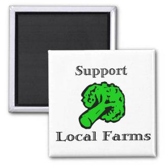 Support Local Farms Broccoli Fridge Magnet