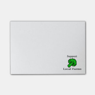 Support Local Farms Broccoli Post-it Notes