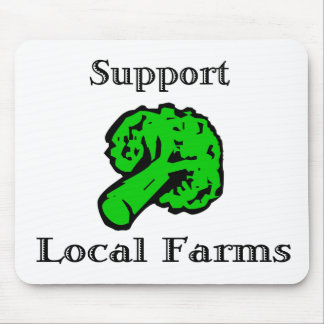 Support Local Farms Broccoli Vegetable Mousepad