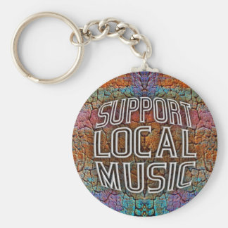 Support Local Music Basic Round Button Key Ring