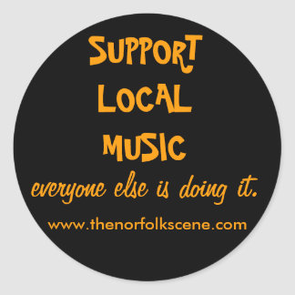 Support Local Music Classic Round Sticker