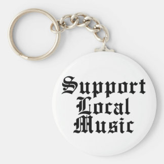 Support Local Music Key Chain