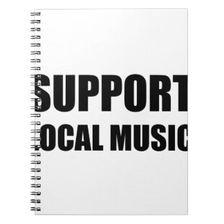 Support Local Music Notebook
