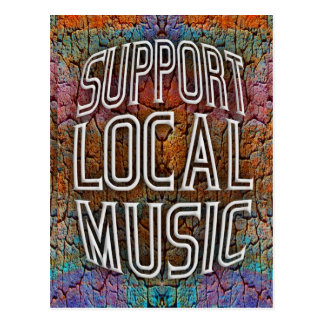Support Local Music Postcard