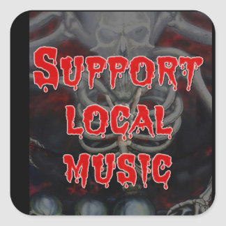 Support Local Music Square Stickers