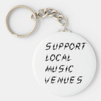 Support Local Music Venues Key Chains