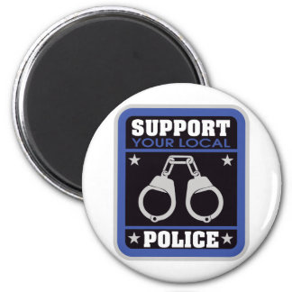 Support Local Police 6 Cm Round Magnet