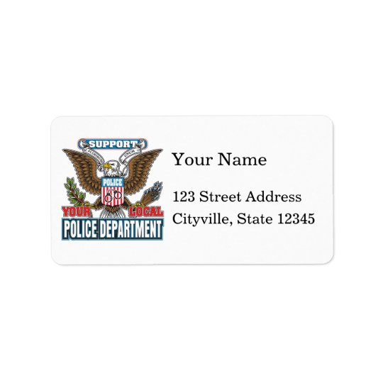 Support Local Police Address Label