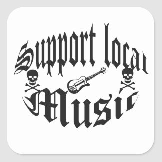 support locals square stickers
