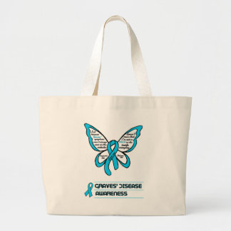 Support/Love/Believe...Graves' Large Tote Bag