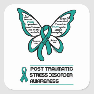 Support/Love/Believe...PTSD Square Sticker