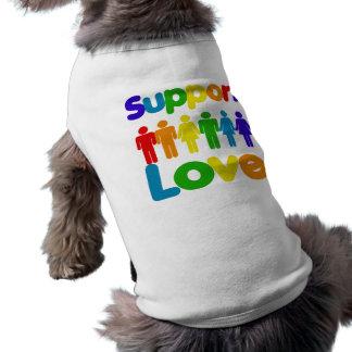 Support Love Sleeveless Dog Shirt