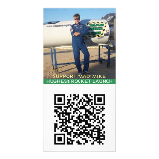 "SUPPORT ""MAD"" MIKE HUGHES's ROCKET LAUNCH Card"