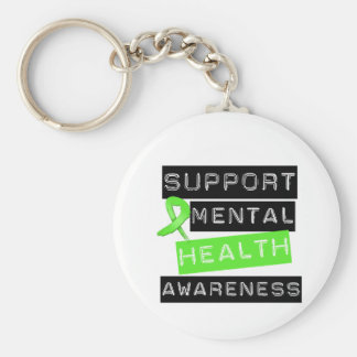 Support Mental Health Awareness Basic Round Button Key Ring