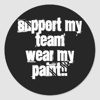 Support My Team Paintball Sticker