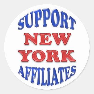 Support New York Affiliates Classic Round Sticker