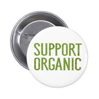 Support organic 6 cm round badge
