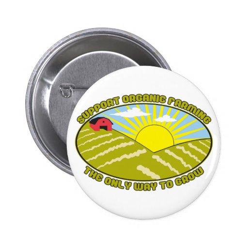 Support Organic Farming Pin