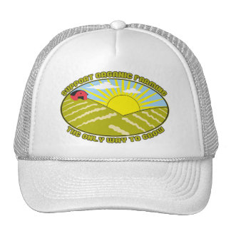 Support Organic Farming Mesh Hats